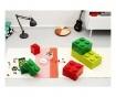 Škatla s pokrovom Lego Rectangular Red
