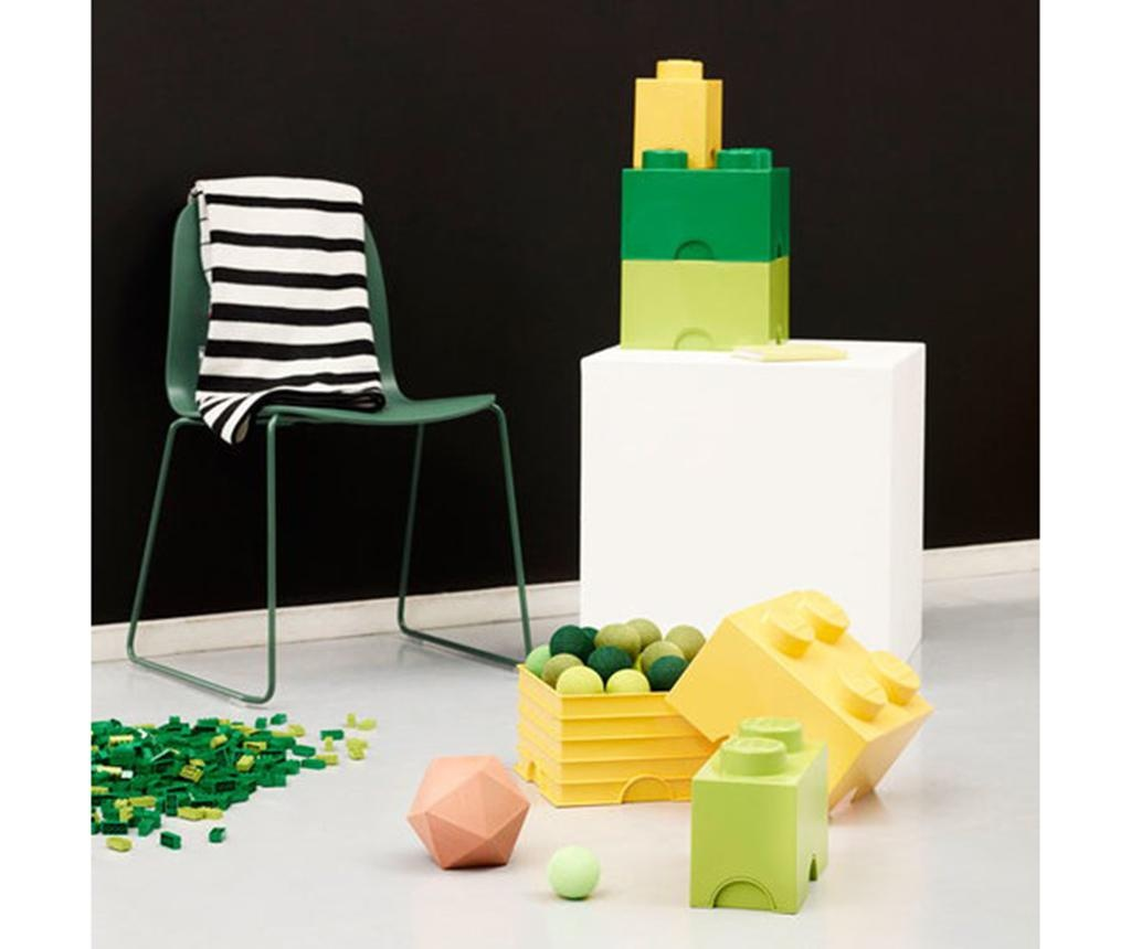Kutija s poklopcem Lego Square Dark Green