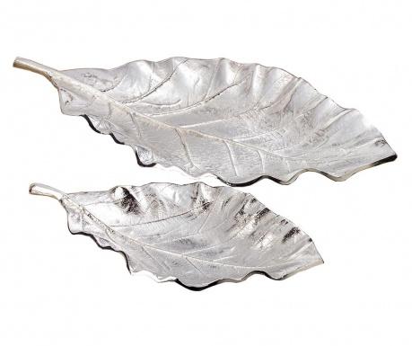 Zestaw 2 pater dekoracyjnych Leaf Galen