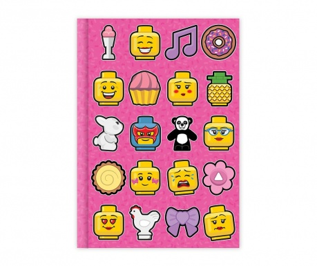 Notes Lego Pink A5