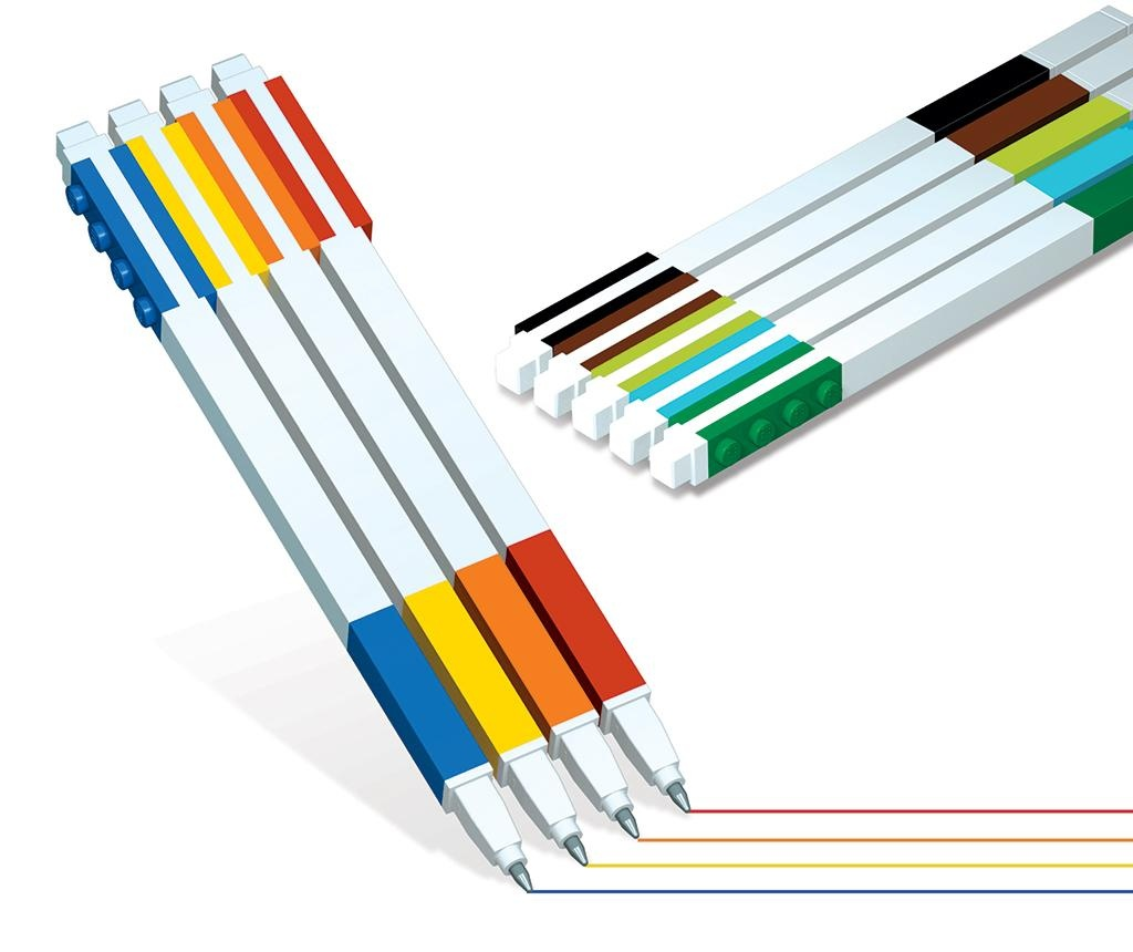 Set 9 gel pisal Lego Color