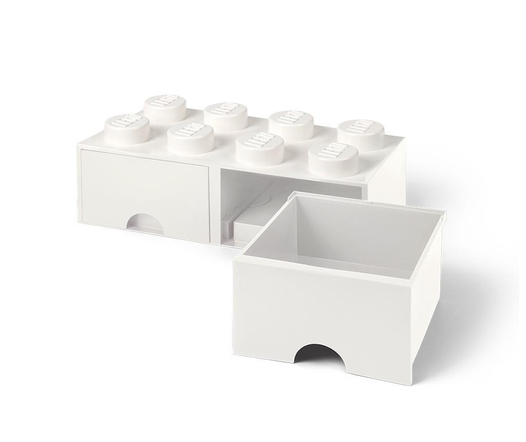 Lego Square Duo White Tárolódoboz