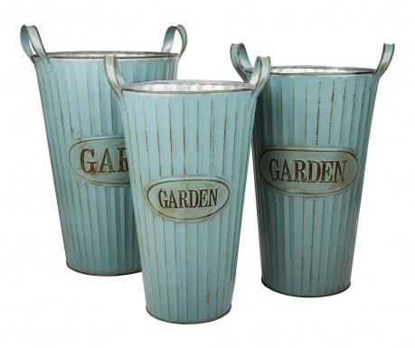 Комплект 3 саксии Garden
