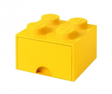 Shranjevalna škatla Lego Square One Yellow
