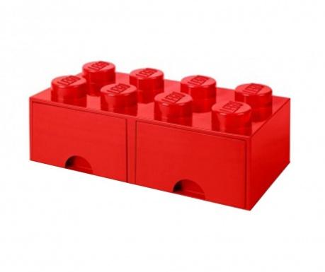 Lego Square Duo Red Tárolódoboz