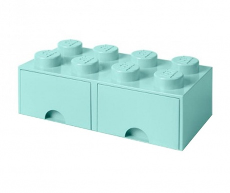 Cutie pentru depozitare Lego Square Duo Turquoise