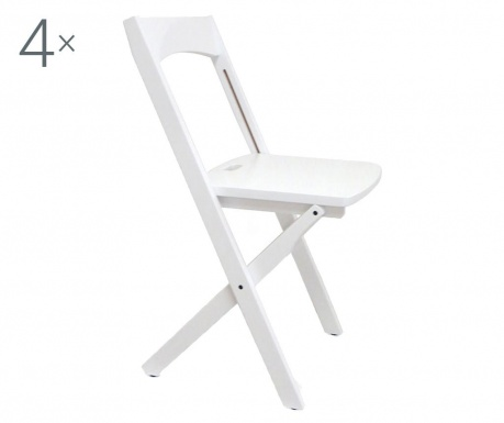 Set 4 zložljivih stolov Diana White