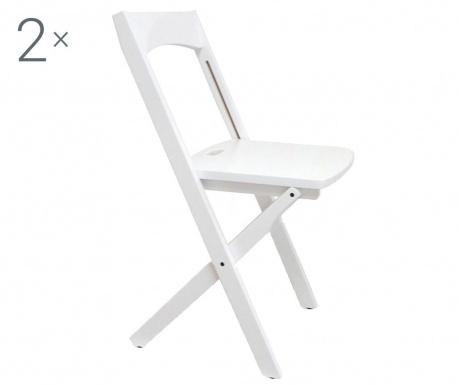 Sada 2 skládacích židlí Diana White