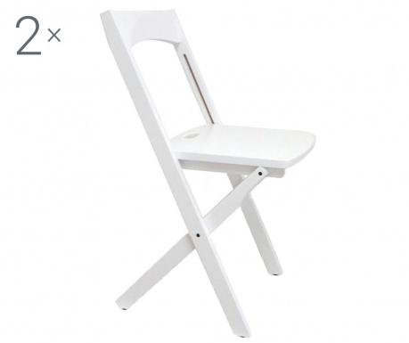 Set 2 zložljivih stolov Diana White