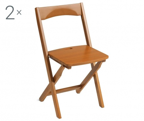Комплект 2 сгъваеми стола Diana Brown