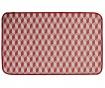 Shine Cube Red Lábtörlő szőnyeg 53x110 cm