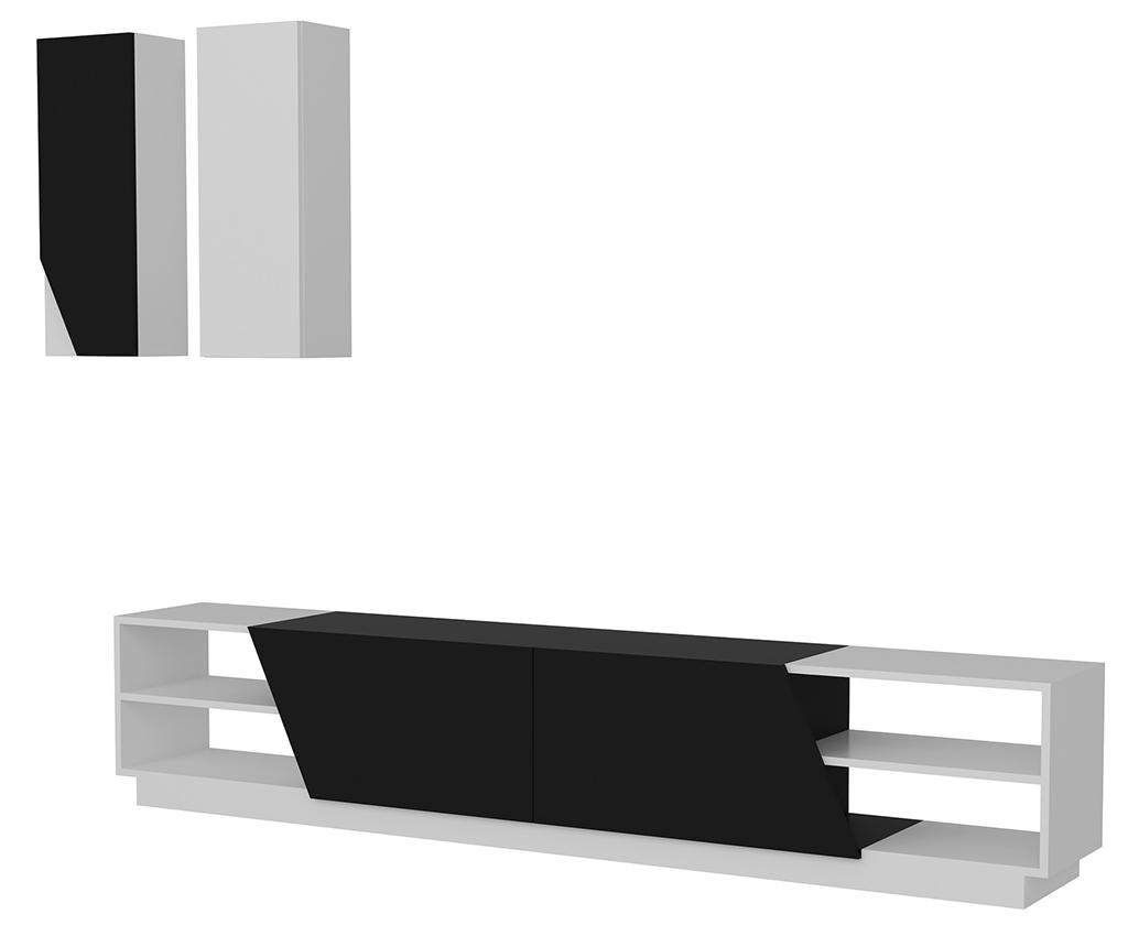Zebra TV Komód és 2 db fali polc