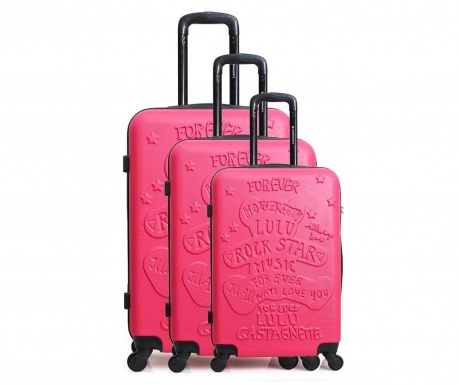 Set 3 trolere Lulu Rock Star Pink