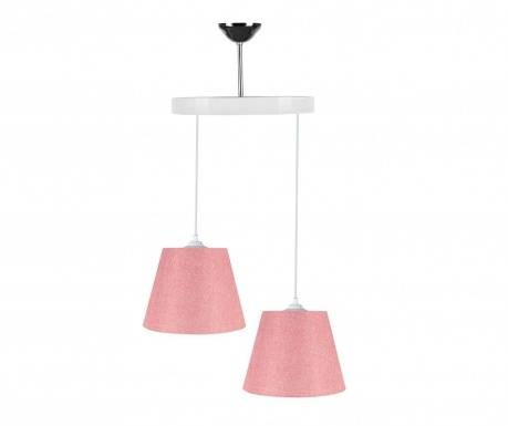 Závesná lampa Alma Grainy Pink White
