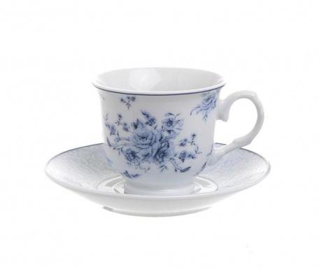 Set 6 šalica za kavu i 6 tanjurića Blue Rose
