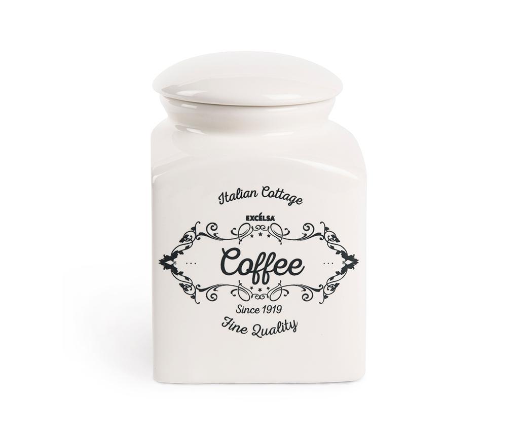 Recipient cu capac pentru cafea Fine - Excelsa, Alb de la Excelsa