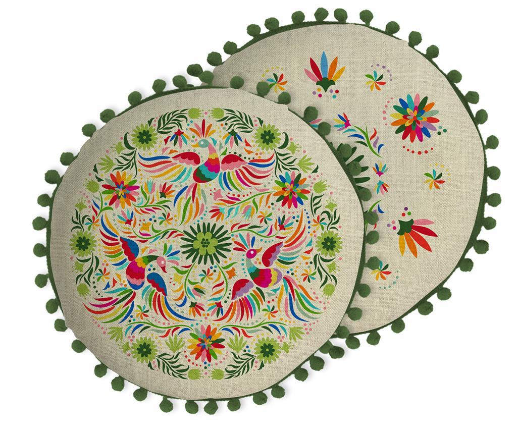 Perna decorativa Ave Otomi Beige 45 cm - Madre Selva, Multicolor