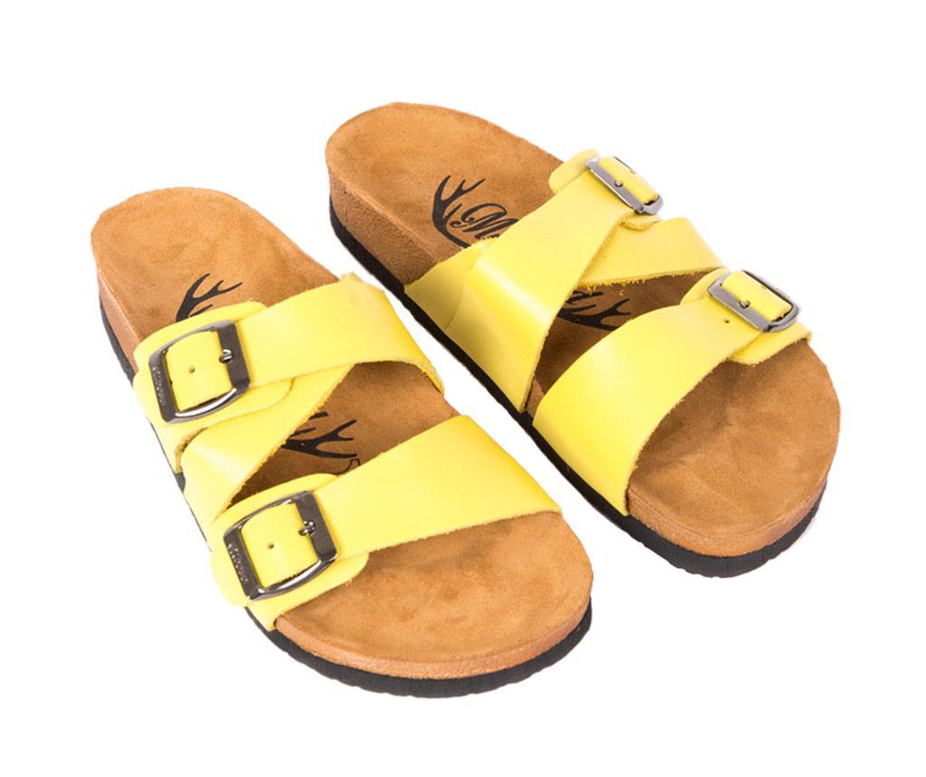 Papuci dama Angie Yellow 42 - Moosefield, Galben & Auriu