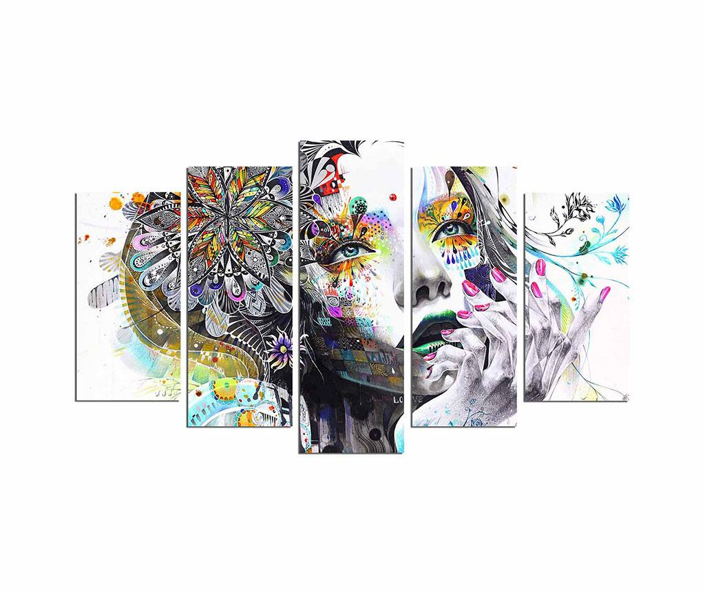 Set 5 tablouri Thinking About - Fascination, Multicolor imagine 2021