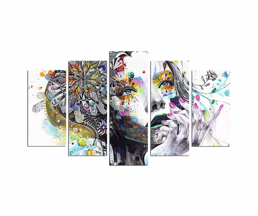 Set 5 tablouri Thinking About - Fascination, Multicolor imagine 2021
