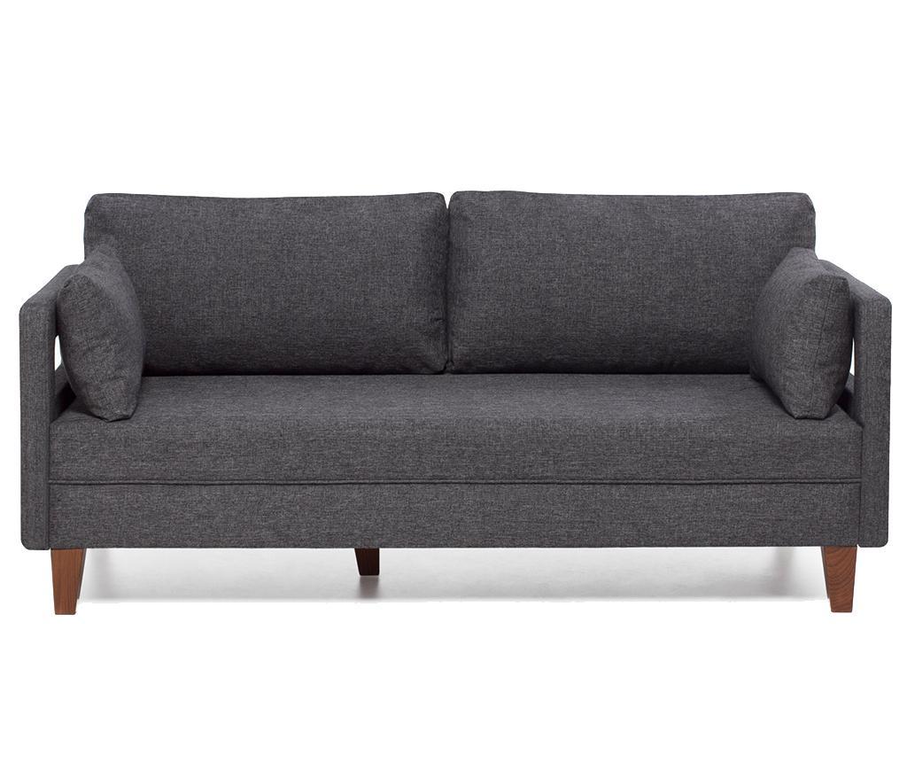 Canapea 2 locuri Comfort Grey - Balcab Home, Gri & Argintiu