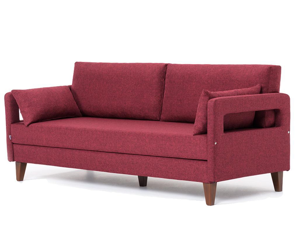Canapea extensibila cu 3 locuri Comfort Claret Red - Eko Halı, Rosu