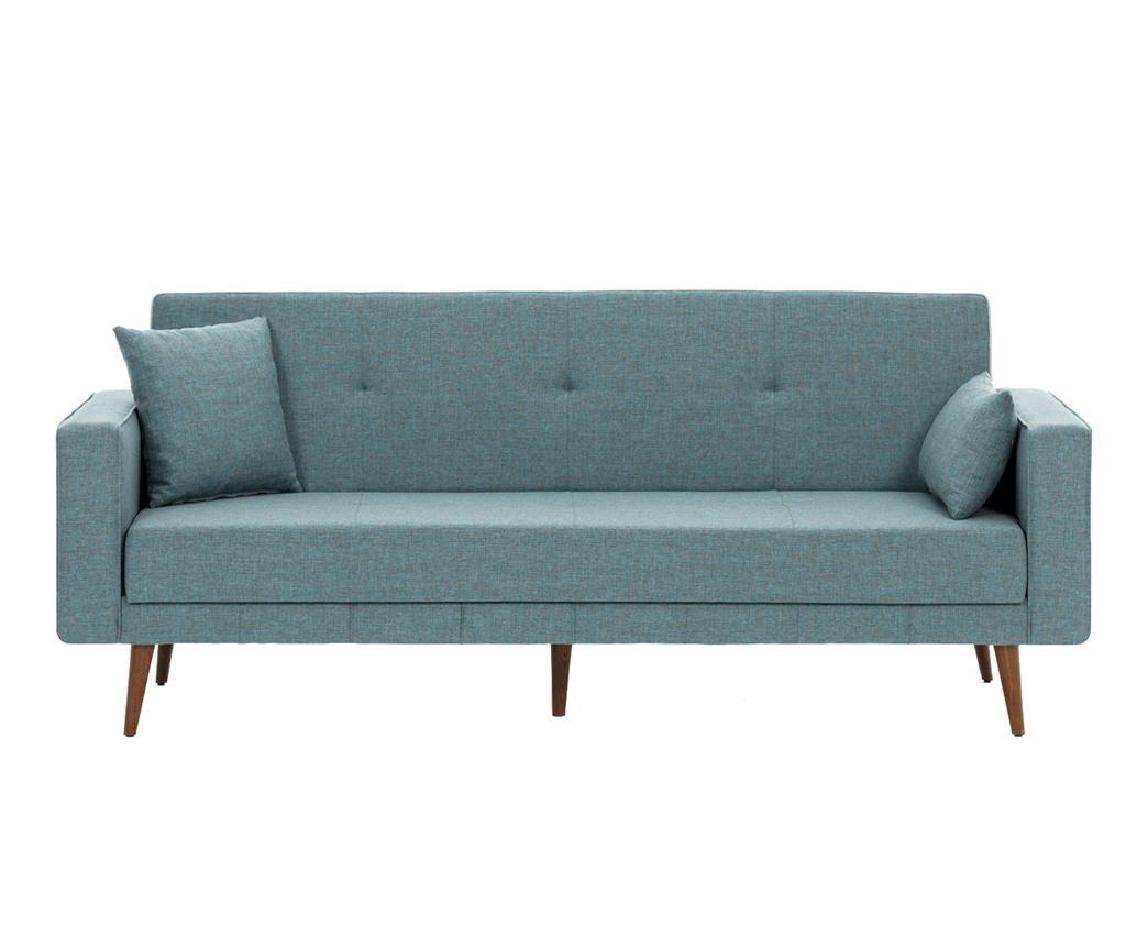 Canapea extensibila cu 3 locuri Dublin Blue - Balcab Home, Albastru