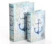 Zestaw 2 pudełek typu książka Anchor