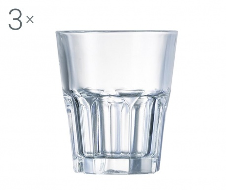 Set 3 čaše New America Clear 300 ml