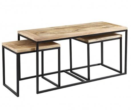 Zestaw 3 stolików do kawy Industrial Cosmo