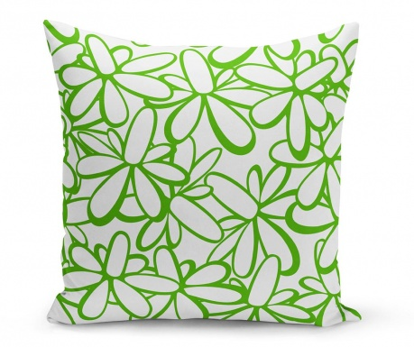Perna decorativa Flowers Green 43x43 cm