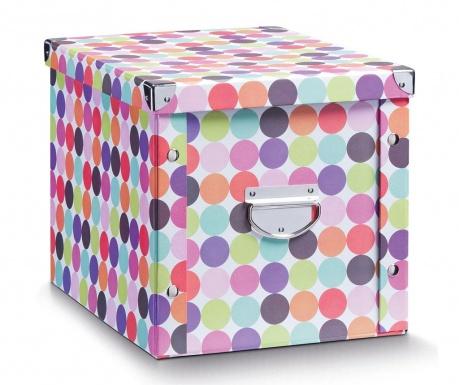 Kutija za spremanje s poklopcem Dots Tall