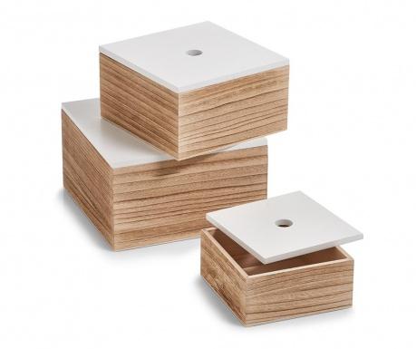 Set 3 kutija s poklopcem Starry