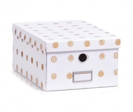 Pudełko z pokrywką do przechowywania Gold Dots