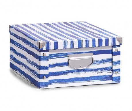 Pudełko z pokrywką do przechowywania Blue Stripes Plus