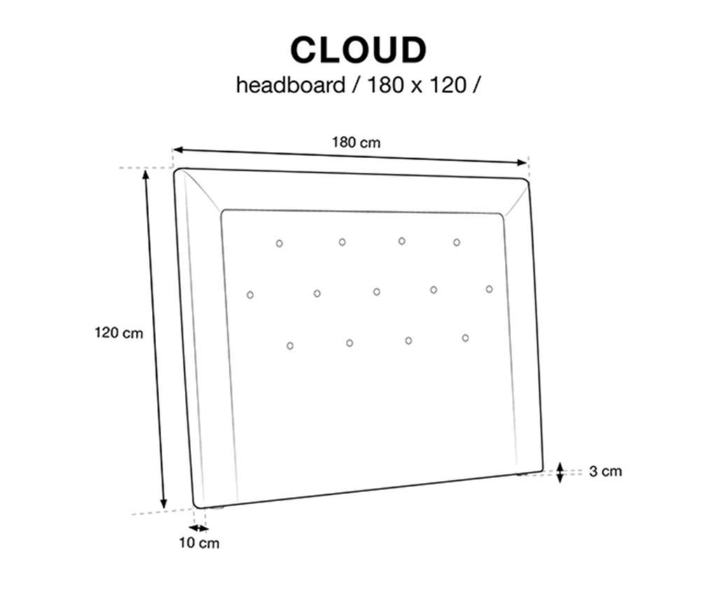 Tablie de pat Cloud Bottle Green 180 cm