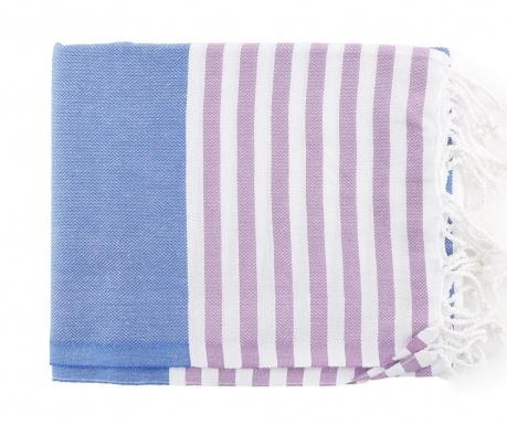 Brisača za plažo Fouta Antalya Blue 100x180 cm