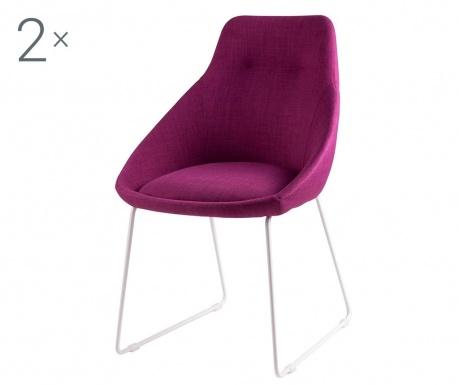 Комплект 2 стола Alba Fuchsia