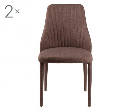 Комплект 2 стола Dora Brown