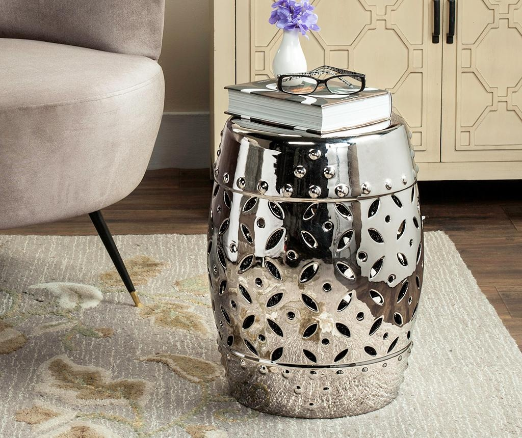 Taburet decorativ Cyprus Silver