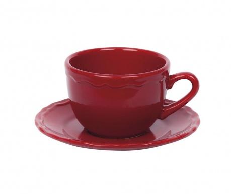 Bright Red Csésze és kistányér