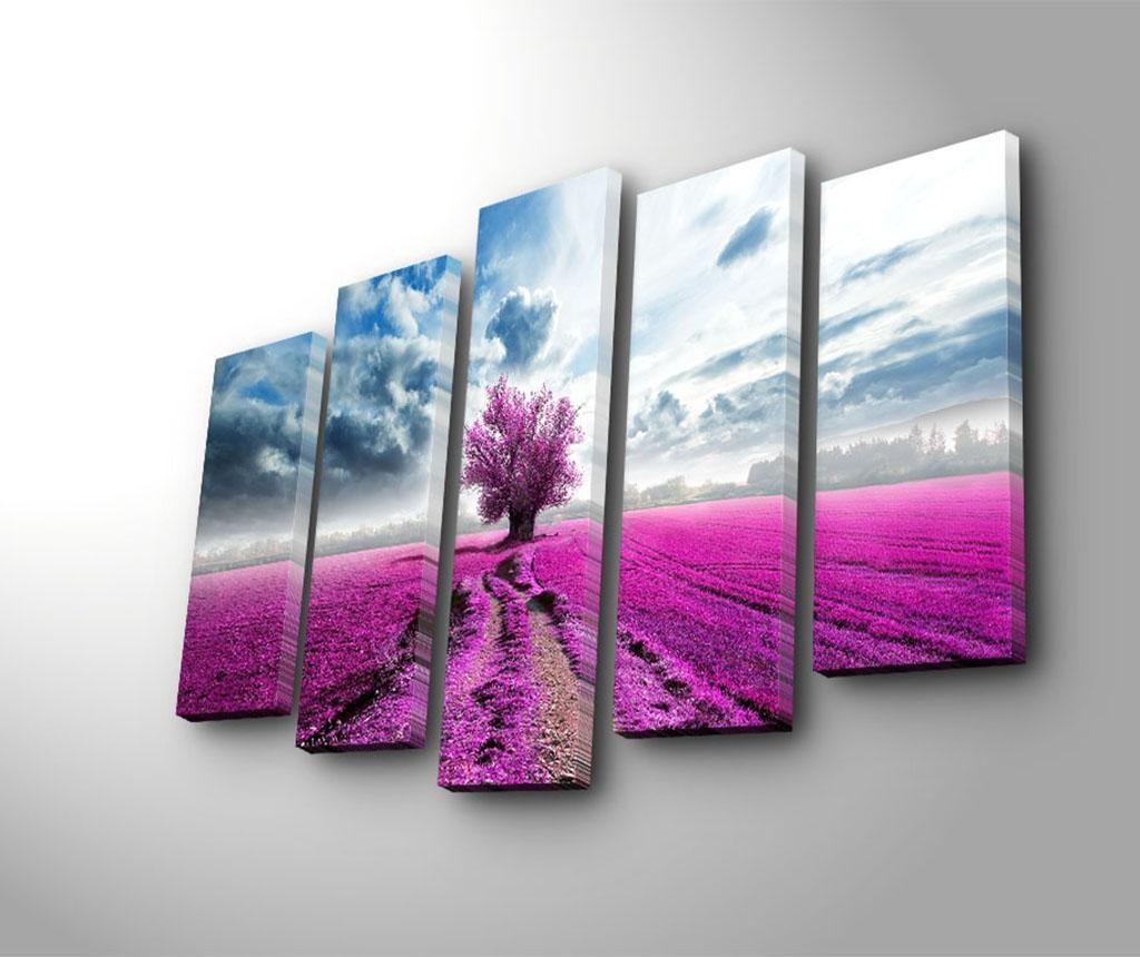 Set 5 slika Purple Fields