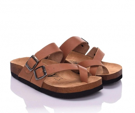Papuci dama Iliana Light Brown 37
