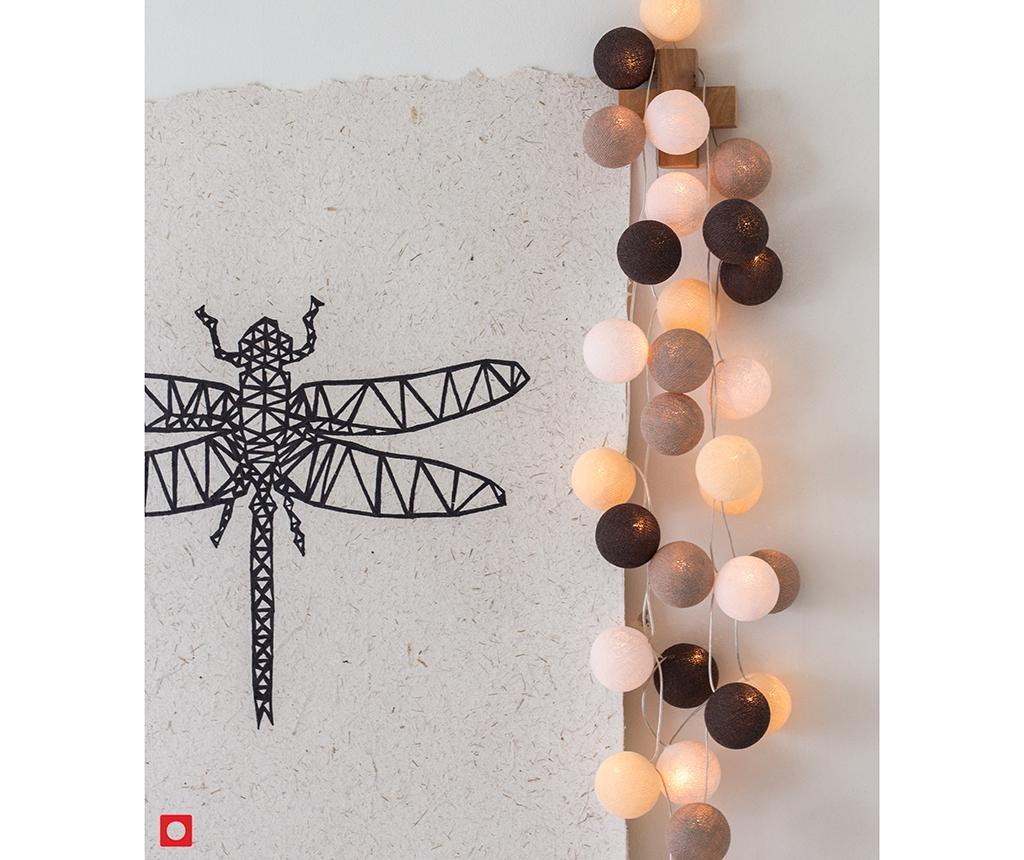 Ghirlanda luminoasa Favorites Taupe 444 cm