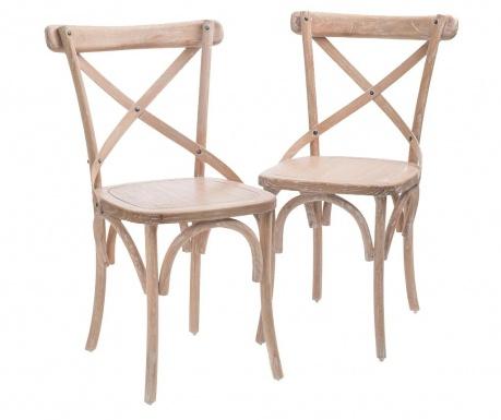 Zestaw 2 krzeseł Bistro Limed Oak