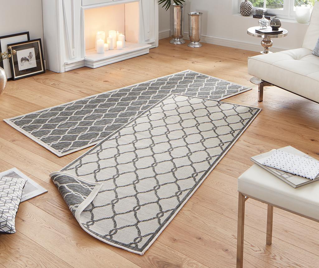 Twin Rimini Grey Cream Megfordítható szőnyeg 80x350 cm