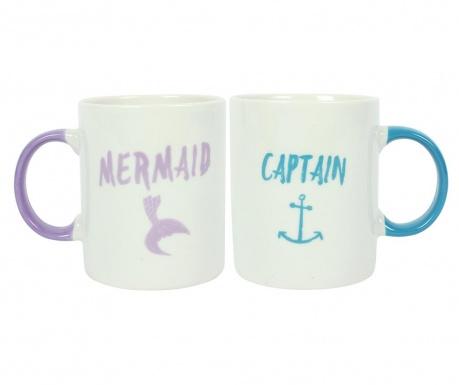 Set 2 cani Mermaid and Captain 300 ml