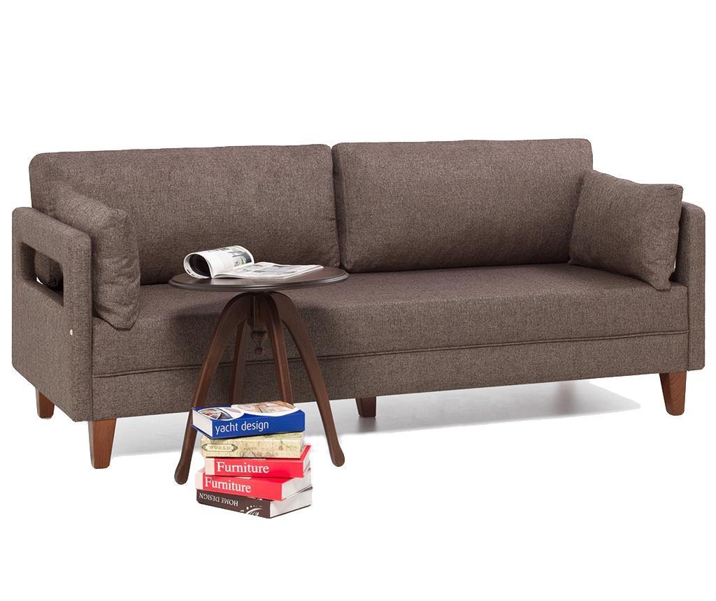 Canapea 3 locuri Comfort Brown