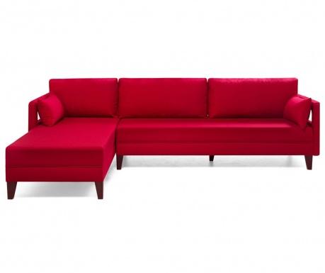 Modulární rohová pohovka levostranná Comfort Red