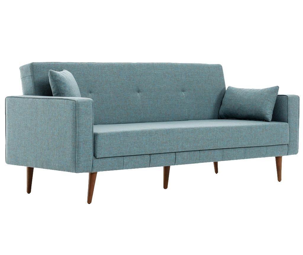 Canapea 3 locuri extensibila Dublin Blue
